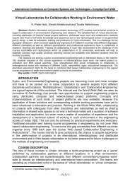 Virtual Laboratories for Collaborative Working in Environment ... - Ecet