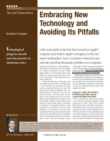 Embracing New Technology and Avoiding Its Pitfalls - DRI Today