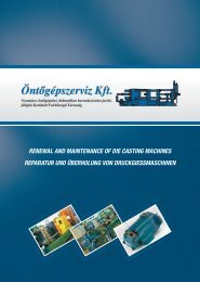 renewal and maintenance of die casting machines reparatur und ...