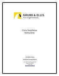 Citrix Installation Instructions - Grubb & Ellis