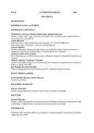 Antropomotoryka 26-2004 - Akademia Wychowania Fizycznego w ...