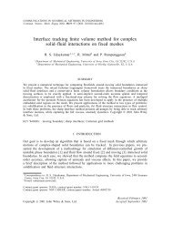 Interface tracking finite volume method for complex solid– uid ...