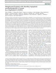 Metaphyseal Dysplasia with Maxillary Hypoplasia and ...