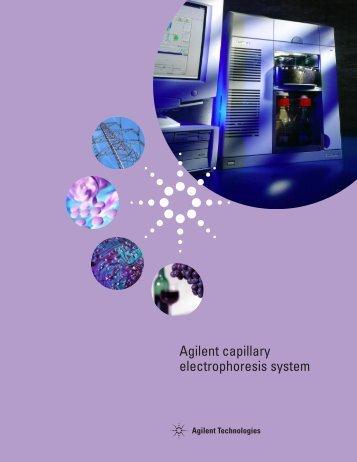 Agilent capillary electrophoresis system