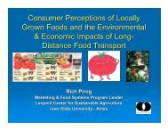 Consumer Perceptions of Locally Grown Foods and the ...
