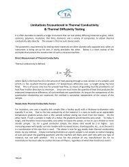 Limitations Encountered in Thermal Conductivity & Thermal ...
