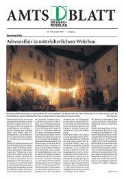 Adventsflair in mittelalterlichem Wehrbau - Dessau-Roßlau