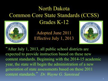 the detrimental effects of common core in north dakota Something as simple and common as moving delaware, idaho, maine, mississippi, montana, new hampshire, north dakota and the deeply negative effects of.