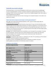 Subsidie duurzame energie - Gemeente Bussum