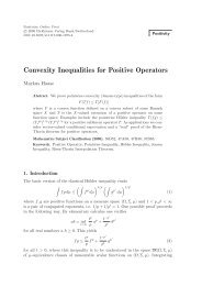Convexity Inequalities for Positive Operators - Functional Analysis