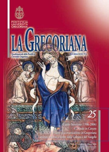 L'anno Saveriano (1506-2006) - Pontifical Gregorian University