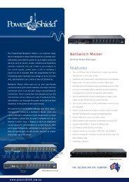 PowerShield Netswitch Brochure
