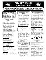fun in the sun summer 2010 a guide to activities ... - Tioga County