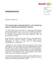 07.02.2013: Danish Agro Koncernes ... - DLA Group