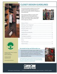 CLOSET DESIGN GUIDELINES - Canyon Creek Cabinet Company