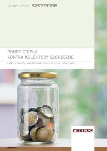 POMPY CIEPŁA KONTRA KOLEKTORY SŁONECZNE - Stiebel Eltron