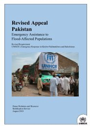 Pakistan Flood SB Appeal FINAL - UNHCR