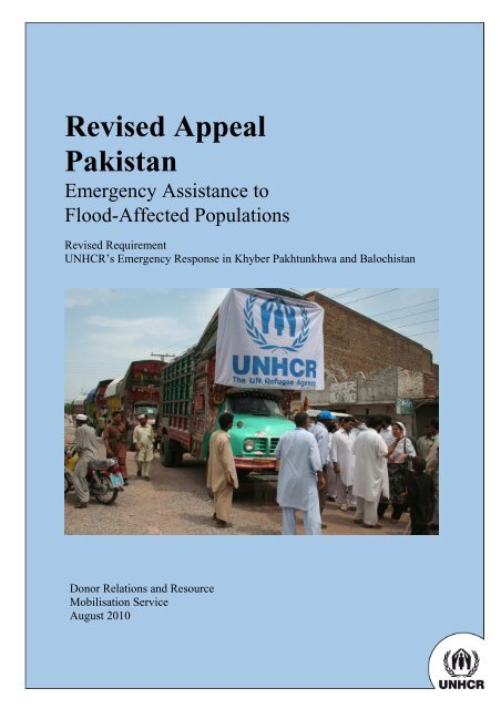 Pakistan Flood SB Appeal FINAL - UNHCR