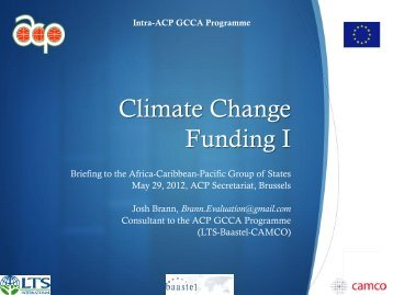 Adaptation Fund - Global Climate Change Alliance