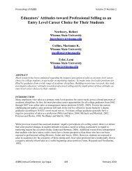 Educators' Attitudes toward Professional Selling as an ... - Asbbs.org