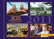 ANNUAL REPORT - ACTS Retirement