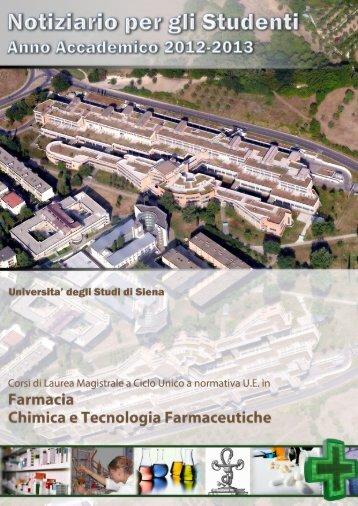 Notiziario per gli Studenti - Farmacia - Università degli Studi di Siena