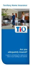 Territory Home Insurance Are you adequately insured? - TIO