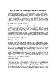 Mercosul 20 anos