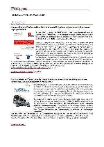 Edition du 25 février 2013 - Gart