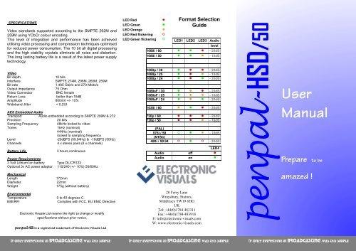 Penpal HSD 50 Manual - Electronic Visuals