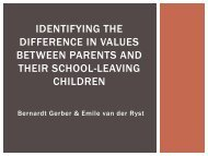 Identifying the difference in values between parents and ... - SAMRA