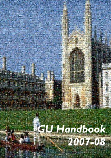 Graduate Union Handbook 2007-8 - University of Cambridge
