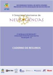 caderno de resumos - II Simpósio Catarinense de Neurociências