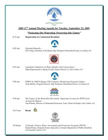 US Epa Technical Support Project SemiAnnual Meeting Agenda