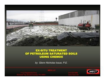 ex-situ treatment of petroleum saturated soils using chemox - ESWP