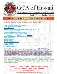 doe construction projects - General Contractors Association of Hawaii