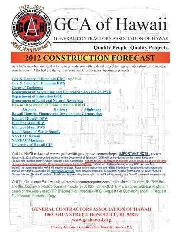 doe construction projects - General Contractors Association of Hawaii