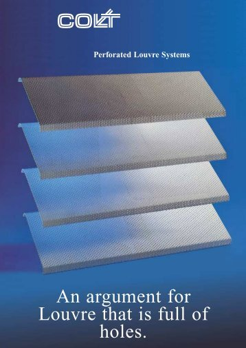Perforated Louvre Systems - CMS
