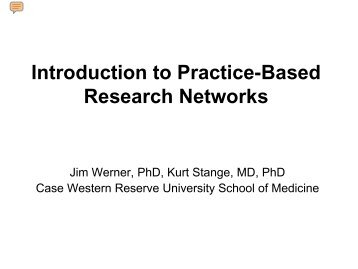 Introduction to Practice-Based Research Networks - Blog@Case