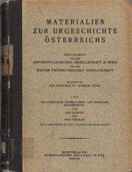 Preuschen, Ernst; Pittioni, Richard; Firbas, Franz; Kisser, Josef