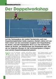 Der Doppelworkshop Teil 1 (105 KB) - Tennis in Worms
