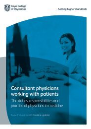 Consultant physicians working with patients - Royal College of ...