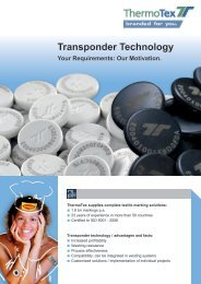 Transponder systems - ThermoTex
