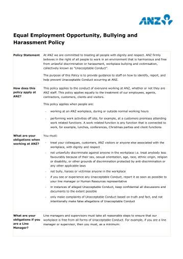 Figure 12 5 sample aap for Bullying and harassment policy template