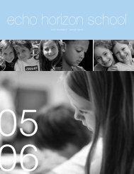 echo foundation annual report - Echo Horizon School