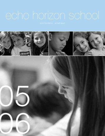 echo foundation annual report - Echo Horizon School