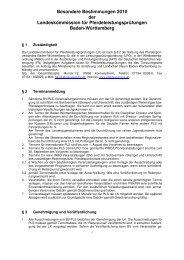 Besondere Bestimmungen 2010 der ... - Reiterring Badische Pfalz eV