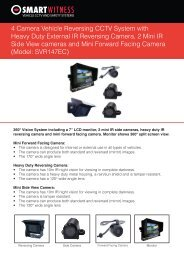 4 Camera Vehicle Reversing CCTV System with Heavy ... - Y3k.com