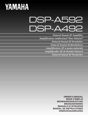 DSP-A592 DSP-A492 - Yamaha