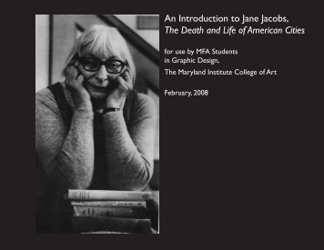 An Introduction to Jane Jacobs, The Death and Life of  American Cities